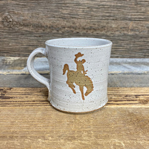 Steamboat Handcrafted Mug - White/Tan