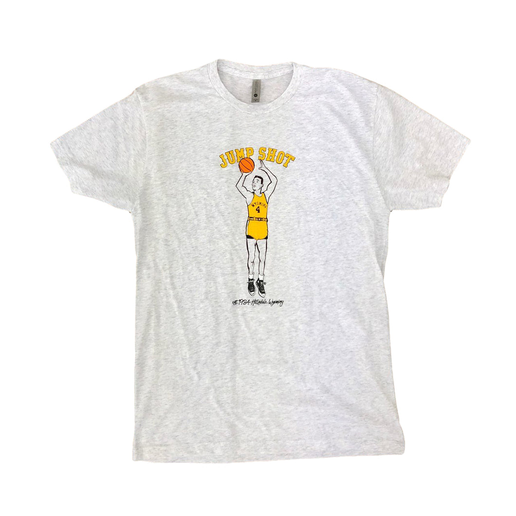 Men's Jump Shot Tee - Heather White