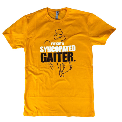 Men's Syncopated Gaiter Tee - Gold