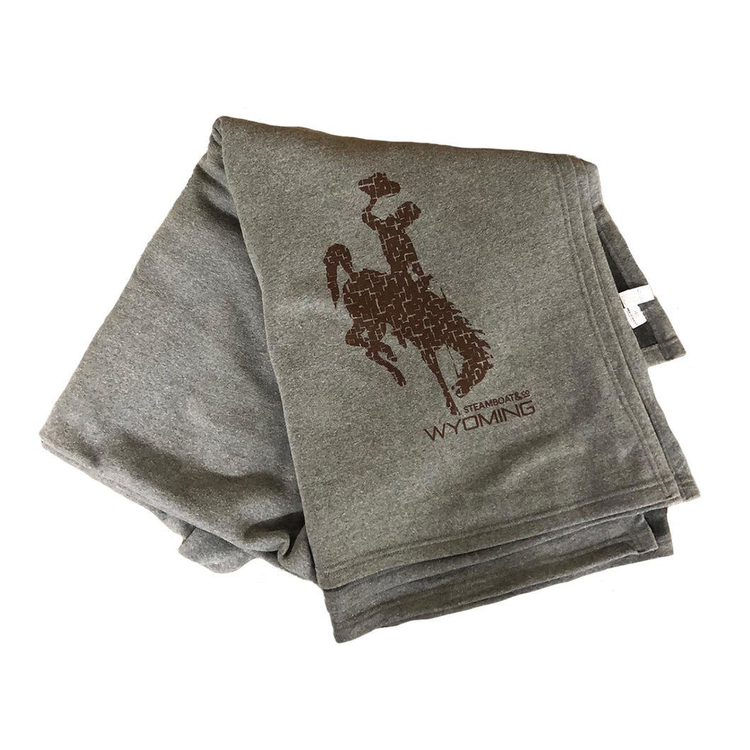 The Steamboat & Co Blanket - Heather Grey