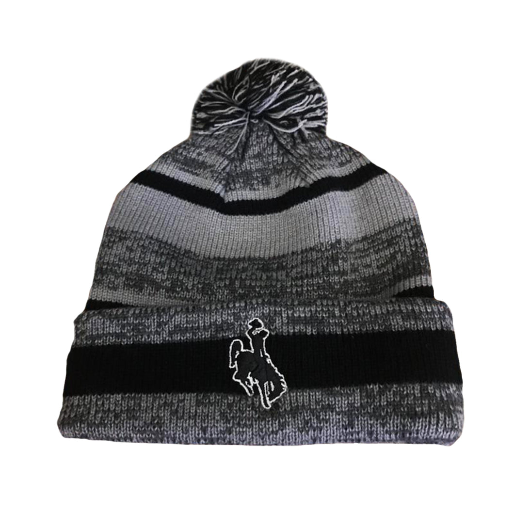 Steamboat Pom Beanie - Black/Grey