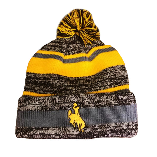 Steamboat Pom Beanie - Gold/Grey