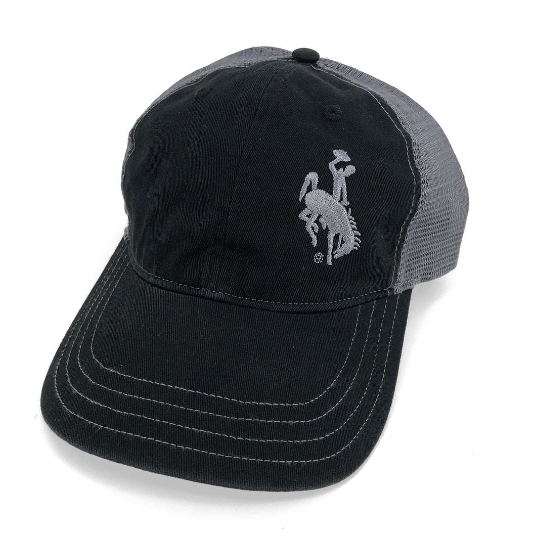 Steamboat Unstructured Trucker Hat - Black/Grey
