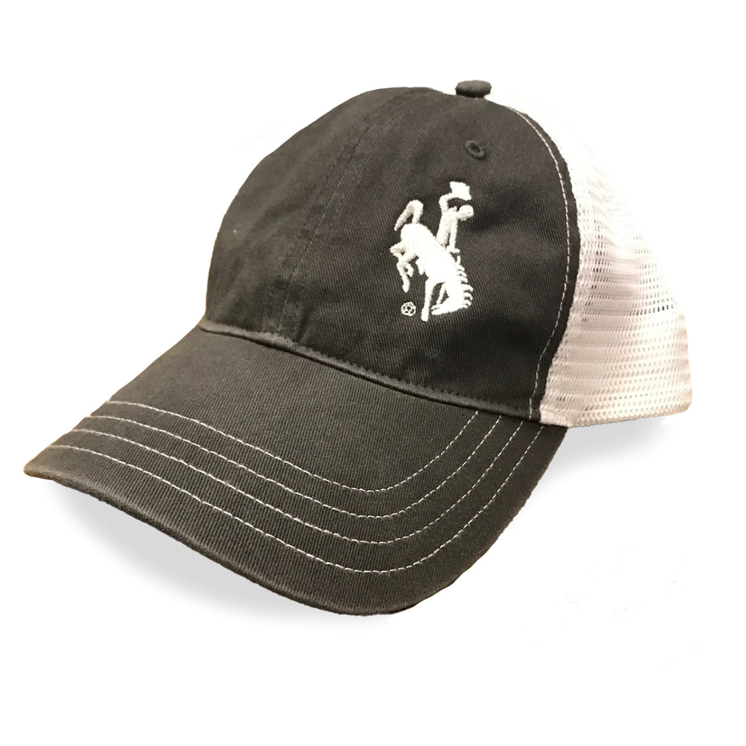 Steamboat Unstructured Trucker Hat - Grey/White