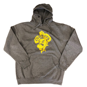 UNISEX Gold Pistol Pete Hoodie - Heather Grey