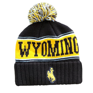 Vintage Wyoming Beanie - Brown
