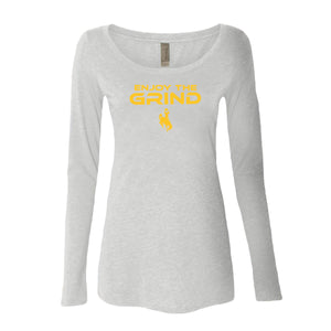 Women's Enjoy the Grind Long Sleeve - Heather White