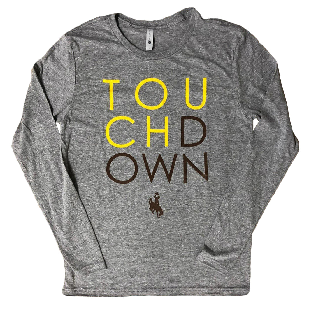 Women's Touchdown Long Sleeve - Grey