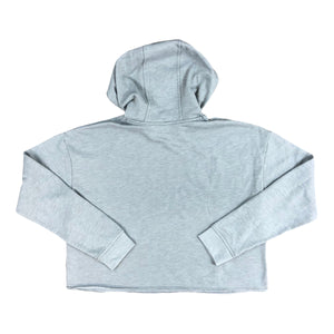 Women's WYOMING Fleece Crop Hoodie - Heather Grey