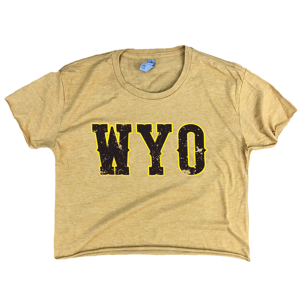 Women's WYO Festival Crop - Antique Gold