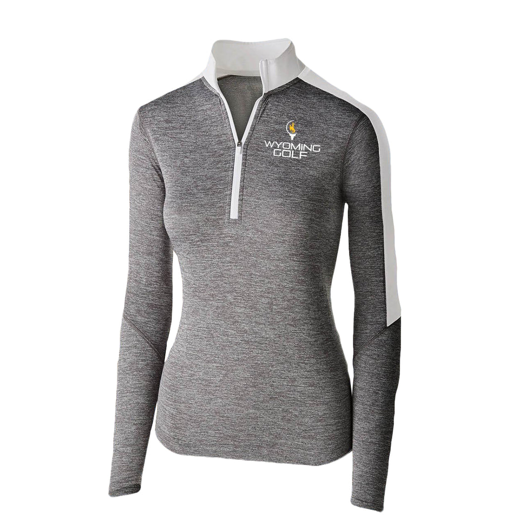 Women's Wyoming Golf Quarter Zip - Graphite