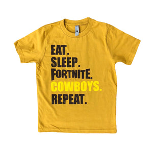 Youth Cowboys Fortnite Tee - Gold