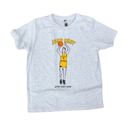 Youth Jump Shot Tee - Heather White