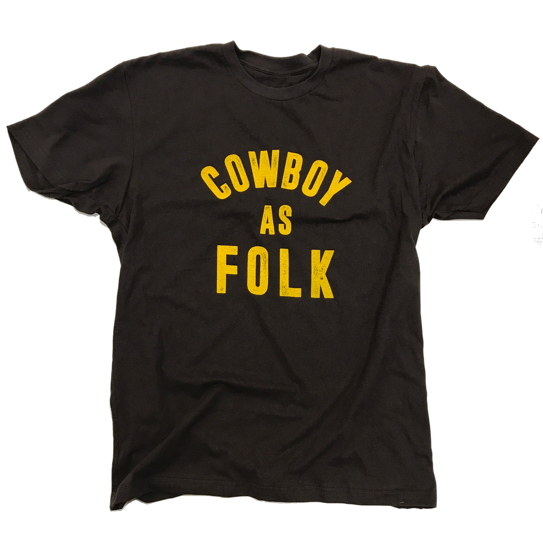 Men's Cowboy as Folk Tee - Brown