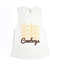 Load image into Gallery viewer, Women's Cowboys Repeat Tank - White