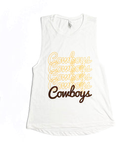 Women's Cowboys Repeat Tank - White