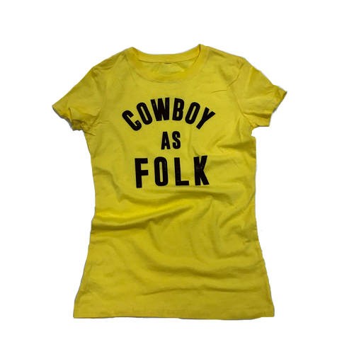 Women's Cowboy as Folk Tee - Gold