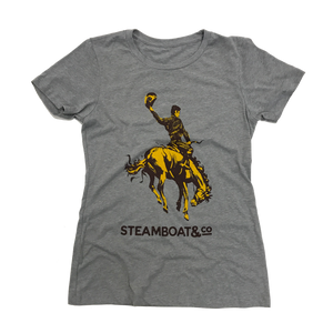 Women's Classic Steamboat & Co Tee - Heather Grey