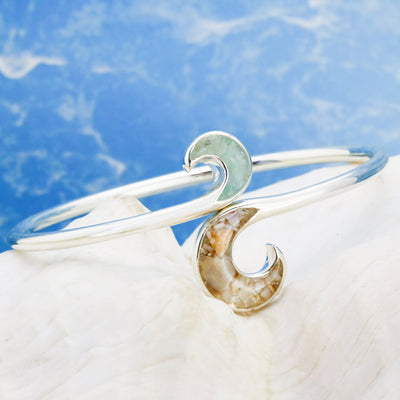 Dune Wave Bypass Bracelet With LBI Sand
