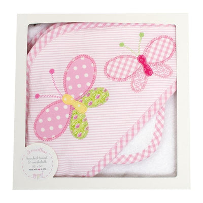 Butterfly Hooded Towel & Washcloth Set