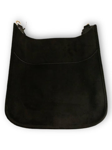 AHDORNED Velvet Messenger - Black/Gold Hardware - NO STRAP ATTACHED - See Straps available at The Good Life Boutique
