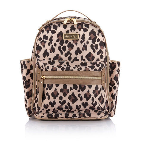 Itzy Ritzy Leopard Itzy Mini Diaper Bag Backpack available at The Good Life Boutique
