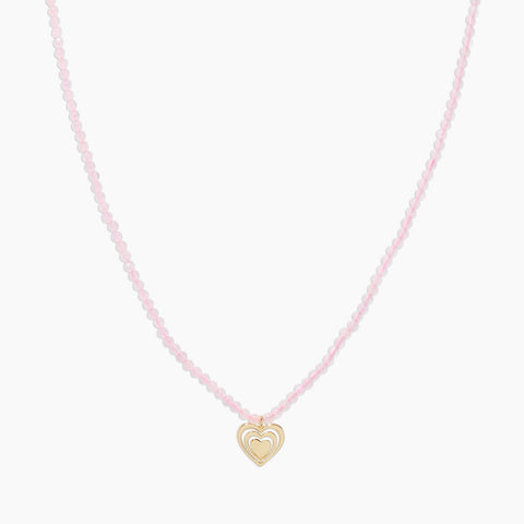 Gorjana Power Gemstone Mantra Necklace (Rose Quartz) available at The Good Life Boutique