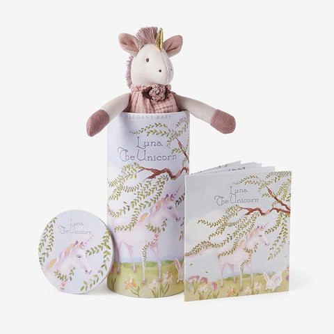 "Elegant Baby Unicorn Toy - 10"" available at The Good Life Boutique"