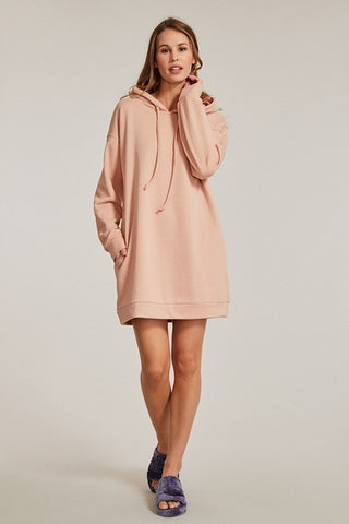 Miss Sparkling Hoodie Dress With Side Seam Pockets available at The Good Life Boutique