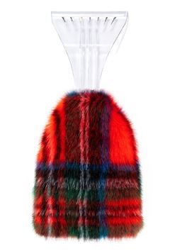 "Fabulous Furs Red Plaid 14"" Ice Scraper available at The Good Life Boutique"