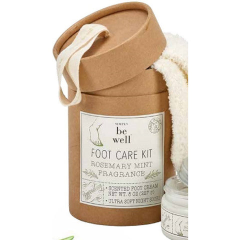 Commonwealth Soap & Toiletries Rosemary Mint Foot Care Kit available at The Good Life Boutique
