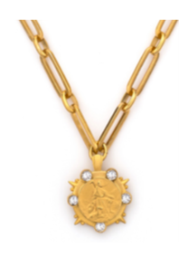 French Kande Versailles Marmonde Necklace Gold available at The Good Life Boutique