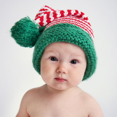 Huggalugs Candy Cane Stocking Hat available at The Good Life Boutique