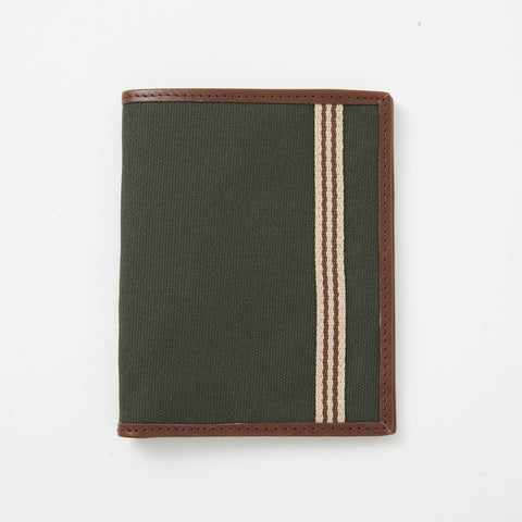 Baekgaard Ltd. Passport Wallet - Canvas Green available at The Good Life Boutique