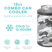 Swig Swig 12 oz Combo Cooler - Incognito Camo available at The Good Life Boutique