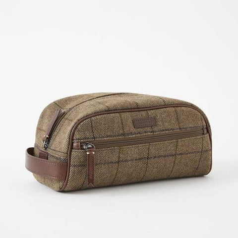 Baekgaard Ltd. Toiletry Dopp Kit Tweed Brown available at The Good Life Boutique