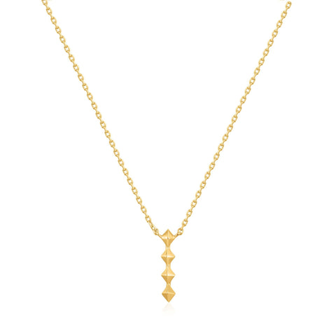 ANIA HAIE Gold Spike Drop Necklace available at The Good Life Boutique
