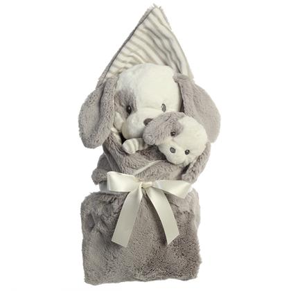 EBBA Lil Stripeez Gift Set - Plush, Rattle and Swaddle available at The Good Life Boutique