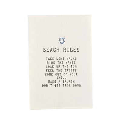BEACH RULES TOWEL
