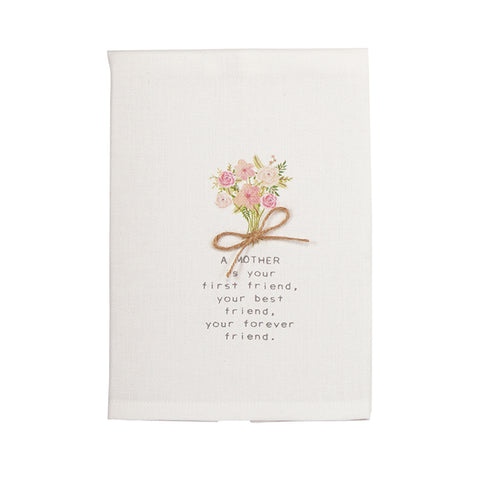 Mud Pie Mom Bouquet Floral Towel available at The Good Life Boutique