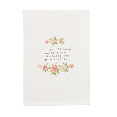MOM GARLAND FLORAL TOWEL