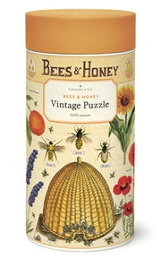 Bees & Honey 1,000 Piece Vintage Puzzle tube packaging