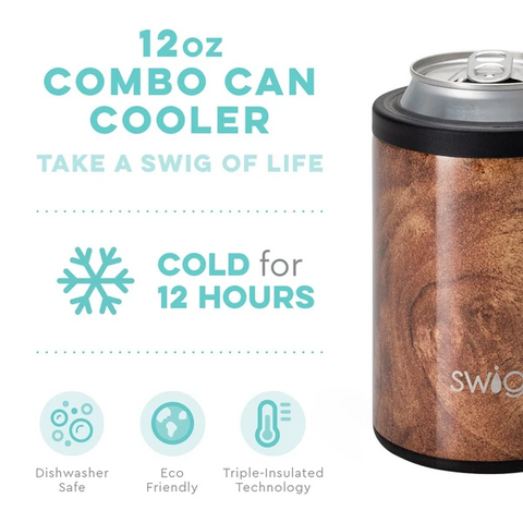 Swig Swig 12 oz Combo Cooler - Black Walnut available at The Good Life Boutique