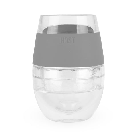 Host - (Faire) Wine Freeze Cooling Cup - Grey available at The Good Life Boutique