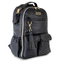 Itzy Ritzy Jetsetter Black Boss Backpack Diaper Bag available at The Good Life Boutique