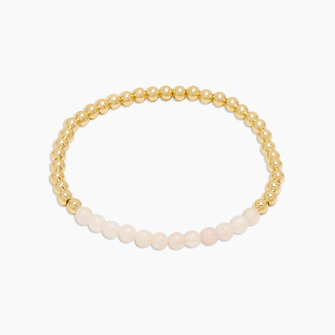 Gorjana Power Gemstone Aura Bracelet - Rose Quartz for Love available at The Good Life Boutique