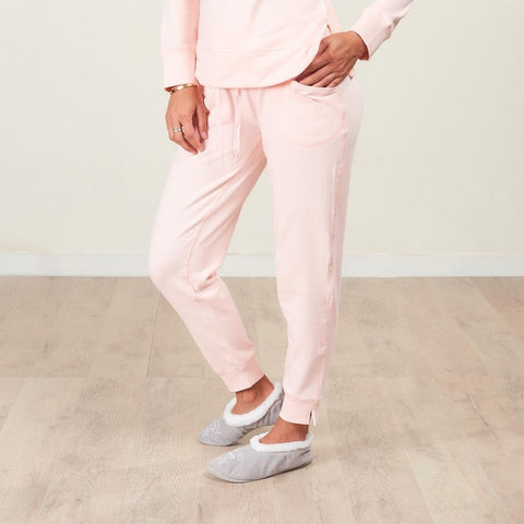 Faceplant Bamboo Frida Jogger Pant - Blush Pink - front showing pocket