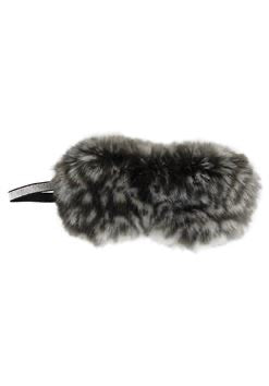 Fabulous Furs Grey Cheetah Faux Fur Sparkle Eye Mask available at The Good Life Boutique