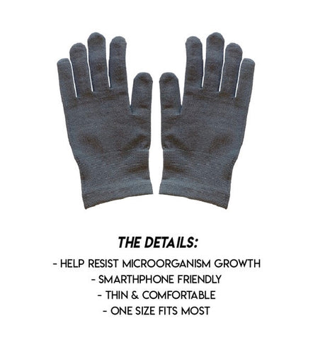 Antimicrobial Gloves - Silver Infused Details