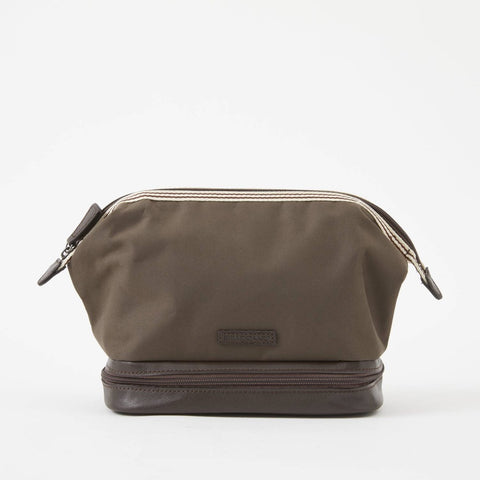 Baekgaard Ltd. Toiletry Travel Bag Micro Brown available at The Good Life Boutique
